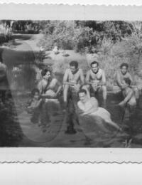 Bain dans la rivière à Morombe,9, Morombe, Madagascar,1960,Commentaire,Colection Privée
