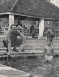 Week-end à Ranomafana à coté de Fianarantsoa,Fianarantsoa, Madagascar,1968,,Collection Leïla Karim