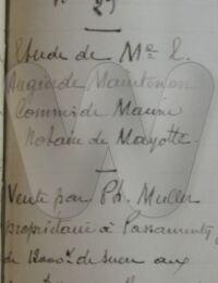 Archive notariale, vente de sucre à Mayotte 1878,Dzaoudzi, Mayotte,1878,Source : archive CAOM à Aix en Provence,CAOM